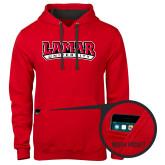 Contemporary Sofspun Red Hoodie-Wordmark