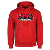 Red Fleece Hoodie-Lamar University Cardinal Stacked