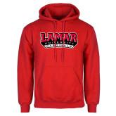 Red Fleece Hood-Lamar University Cardinal Stacked