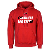 Red Fleece Hoodie-Cardinal Nation