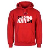 Red Fleece Hood-Cardinal Nation