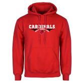 Red Fleece Hood-Football Geometric Design