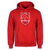 Red Fleece Hood-Soccer Shield Design