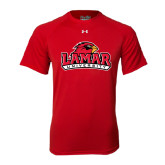 Under Armour Red Tech Tee-Lamar University w/Cardinal Head