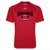 Under Armour Red Tech Tee-Football Arched Over Ball