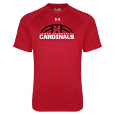 Under Armour Red Tech Tee-Half Ball Basketball Design