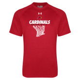 Under Armour Red Tech Tee-Basketball Net Design