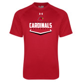 Under Armour Red Tech Tee-Baseball Plate Design