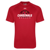 Under Armour Red Tech Tee-Soccer Half Ball Design