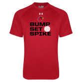 Under Armour Red Tech Tee-Bump Set Spike