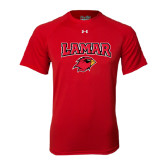 Under Armour Red Tech Tee-Lamar w/Cardinal Head