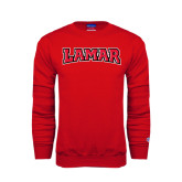 Champion Red Fleece Crew-Lamar