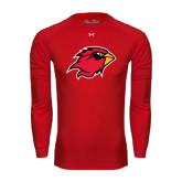 Under Armour Red Long Sleeve Tech Tee-Cardinal Head