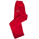 Champion PowerBlend Red Fleece Open Bottom Pant-Lamar University w/Cardinal Head