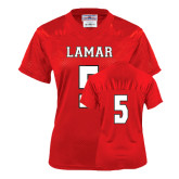 Ladies Red Replica Football Jersey-#5
