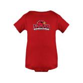 Red Infant Onesie-Lamar University w/Cardinal Head