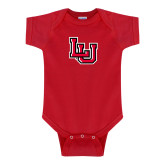 Red Infant Onesie-Interlocking LU