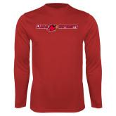 Performance Red Longsleeve Shirt-Lamar University Flat