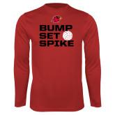 Performance Red Longsleeve Shirt-Bump Set Spike