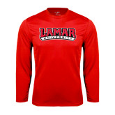 Syntrel Performance Red Longsleeve Shirt-Lamar University