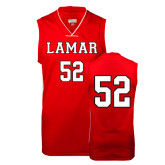 Replica Red Adult Basketball Jersey-#52