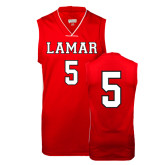 Replica Red Adult Basketball Jersey-#5