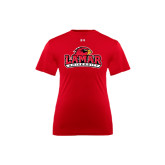 Under Armour Youth Red Tech Tee-Lamar University w/Cardinal Head