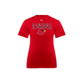 Under Armour Youth Red Tech Tee-Lamar w/Cardinal Head