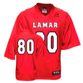 Under Armour Replica Red Adult Football Jersey-#80