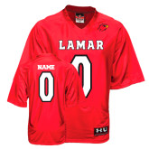 Under Armour Replica Red Adult Football Jersey-personalized
