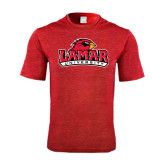 Performance Red Heather Contender Tee-Lamar University w/Cardinal Head