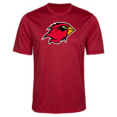 Performance Red Heather Contender Tee-Cardinal Head