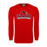Red Long Sleeve TShirt-Lamar University w/Cardinal Head