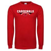 Red Long Sleeve T Shirt-Football Geometric Design
