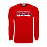 Red Long Sleeve TShirt-Lamar University
