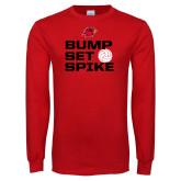 Red Long Sleeve T Shirt-Bump Set Spike