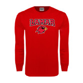 Red Long Sleeve TShirt-Lamar w/Cardinal Head