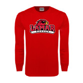 Red Long Sleeve TShirt-Soccer