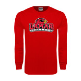 Red Long Sleeve TShirt-Track and Field