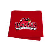 Red Sweatshirt Blanket-Lamar University w/Cardinal Head