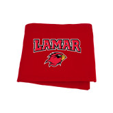 Red Sweatshirt Blanket-Lamar w/Cardinal Head