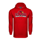 Under Armour Red Performance Sweats Team Hood-Lamar University w/Cardinal Head