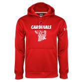 Under Armour Red Performance Sweats Team Hoodie-Basketball Net Design