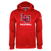 Under Armour Red Performance Sweats Team Hoodie-Volleyball