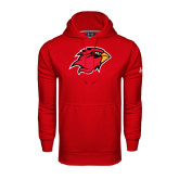 Under Armour Red Performance Sweats Team Hood-Cardinal Head