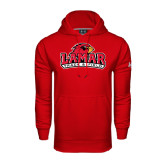 Under Armour Red Performance Sweats Team Hood-Track and Field