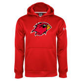 Under Armour Red Performance Sweats Team Hoodie-Cardinal Head