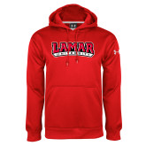 Under Armour Red Performance Sweats Team Hoodie-Wordmark