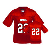 Youth Replica Red Football Jersey-#22
