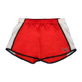 Ladies Red/White Team Short-LU